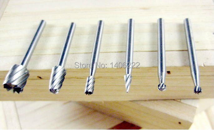 Quality Electric Grinding Accessories 6PCS Diamond Bits alloy Rotary Burr Steel Grinding Burrs Carpentry Wood Cutter Rotary Rasp(China (Mainland))