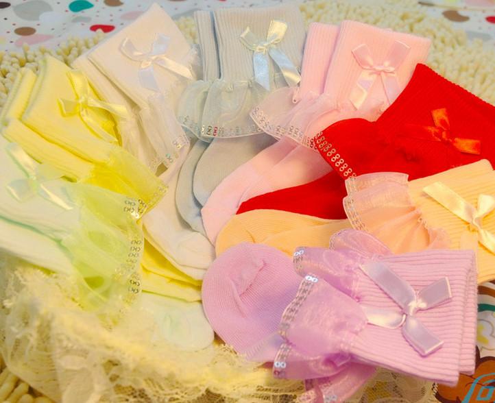100pairs/путешествия красивые девушки кружева носки принцесса балета носка хлопок детские весны чулочно-носочных изделий смешивать цвета