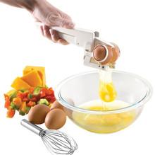 1 PC Creative Egg Cracker Handheld Egg-Beater Separator Egg Breaker Tool Kitchen Accessories W30