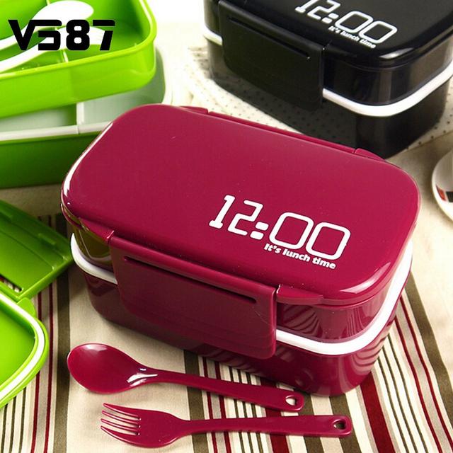 Вырезать Пластиковые Микроволновая Печь Бенту Lunch Box Пикник Пищевых Контейнеров Большой Хранения детская Посуда Офис Работы Поставок