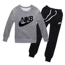 2016 spring autumn Brand tracksuit kids clothes set boys sport suit children T-shirt+Pants jogging hoodies clothing sweatshirt(China (Mainland))
