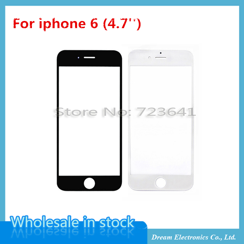 100pcs/lot NEW Front Touch Screen Glass Outer Lens Glass Cover Replacement for iPhone 6 glass 4.7