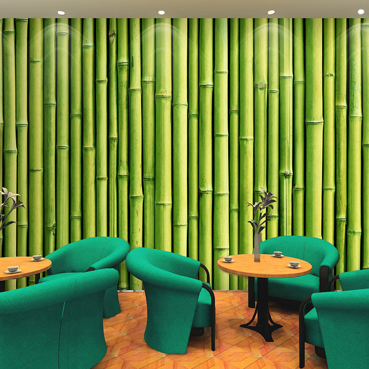 Popular bamboo murals buy cheap bamboo murals lots from for Bamboo wallpaper for walls