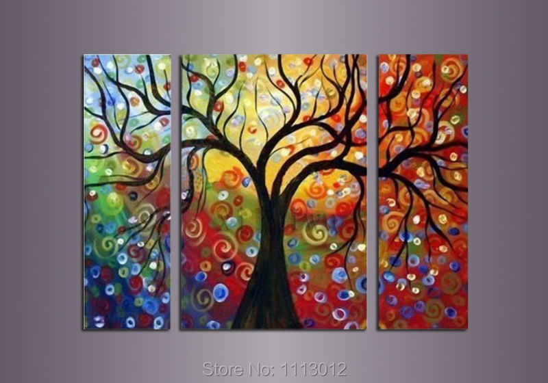 Compra rbol de la vida til del aceite online al por for Decoration murale arbre de vie