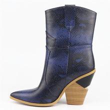 ASUMER Boyutu 34-46 SıCAK 2019 Yeni moda yarım çizmeler Kadın Sivri Burun Sonbahar Kış Boots Kalın Yüksek Topuklar Kadın bayan Botları Bayan(China)