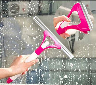 Spray type cleaning brush glass wiper window clean shave glass sponge car window cleaning washing brush(China (Mainland))