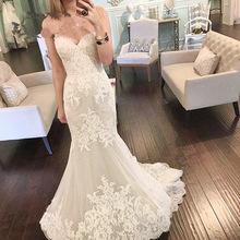 Vintage Wedding Dress 2017 Mermaid Off Shoulder Bridal Dress Appliques Plus Size Wedding Gown vestido de noiva robe de mariage(China (Mainland))