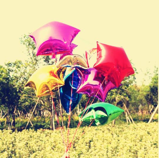 10inch Star Balloon Plain Foil Balloon Star Metallic Mylar Balloon Decoration Balloon 20pcs/Lot Free Shipping(China (Mainland))