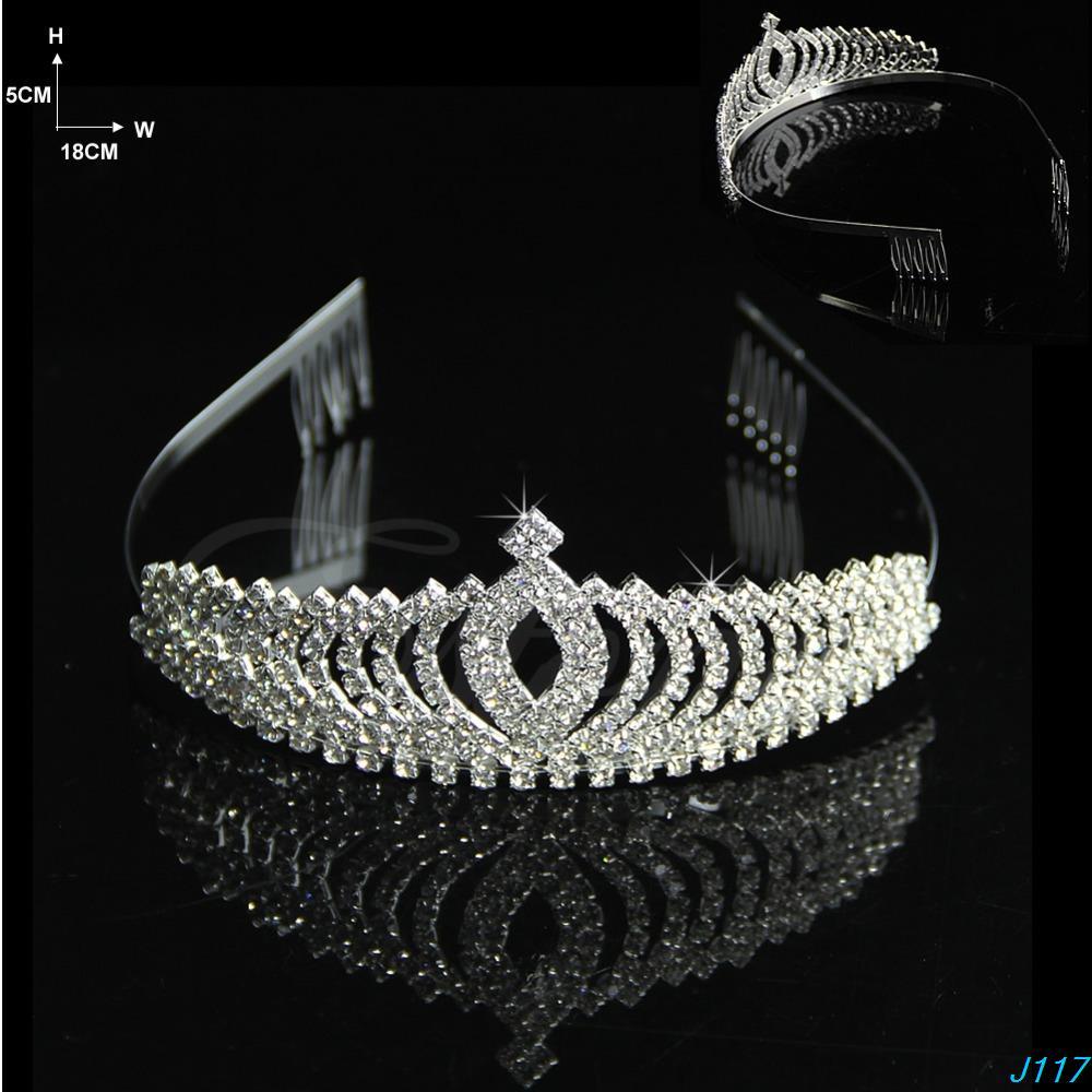 Wedding Bridal Comb Tiara Rhinestone Crystal Crown Pageant Prom Hair Headband-JZ122(China (Mainland))