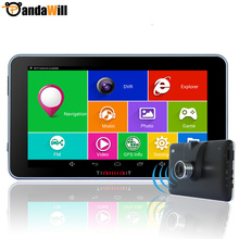 7″ Android 4.4 Car GPS Navigation navigator Cortex-A7 quad-core Car DVRS WIFI Russia/Europe/navitel Sat Nav Truck vehicle gps
