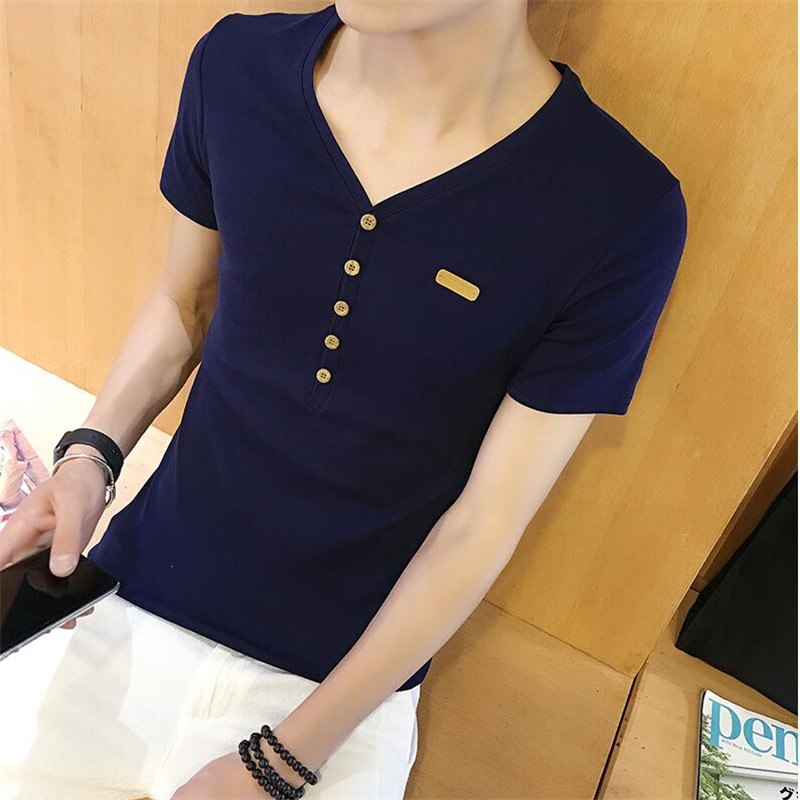 8 Designs Mens T Shirt Slim Fit Crew Neck T-shirt Men Short Sleeve Shirt Casual tshirt Tee Tops Mens Short Shirt Size M-2XL(China (Mainland))