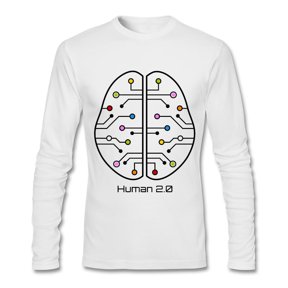 Shirts human design - Cheap Wholesale Human 2 0 Brain Circuit T Shirts Man Crew Neck Tee Shirt Design Simple
