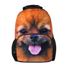 Big Sale 3D Animal Wolf Horse Felt Backpack Women's Cute Dog Backpack zoo animal Printing School Knapsack Teenager sports bag(China (Mainland))