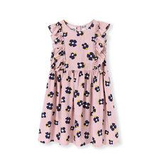 BalabalaGirls Prinzessin Kleid Sommer 2019 Neue kinder ärmelloses Kleid Floral Baby kleider baumwolle kleidung(China)