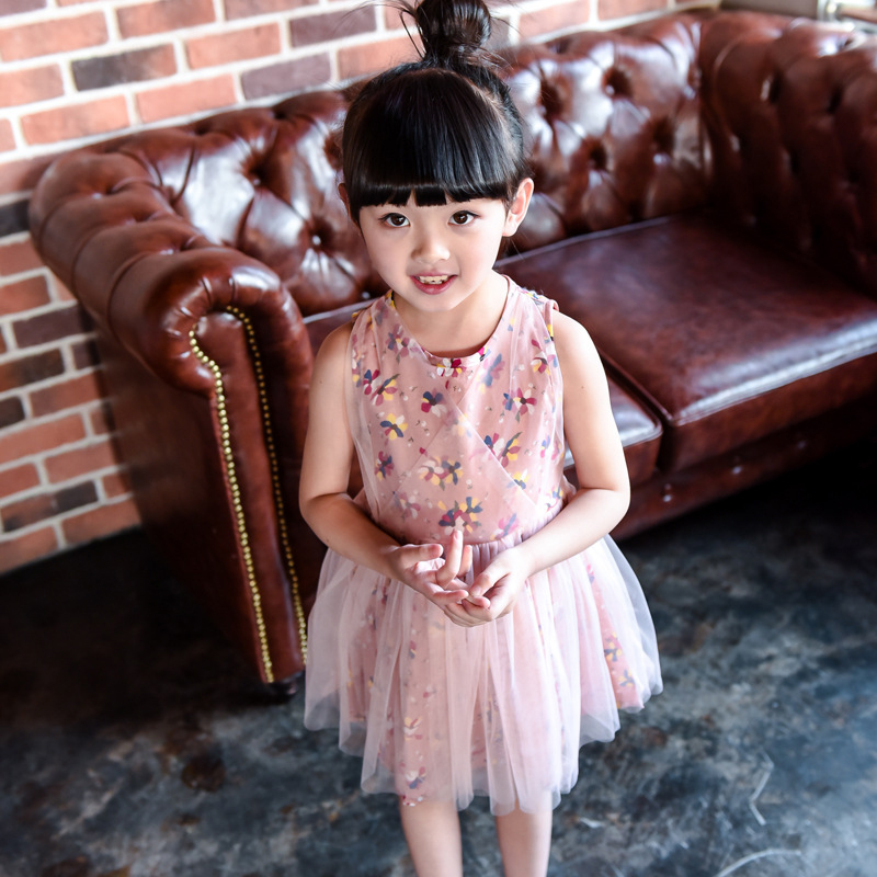 Girls Dresses Summer 2016 Girl Dress Ceremony Bebe Girl Dress Childrens Clothes China Floral Fancy Chinese Dress Children Lace(China (Mainland))