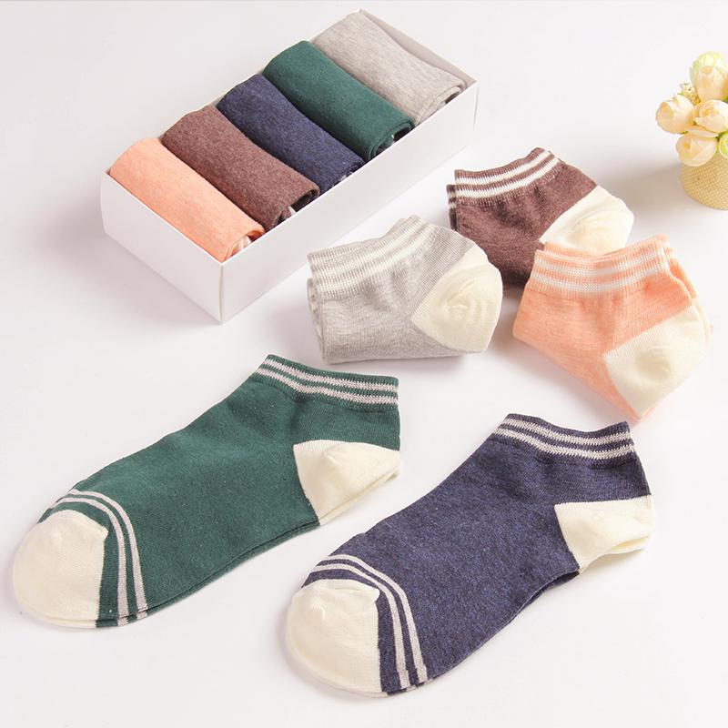 5 Pair/Lot Kawaii Socks Autumn Winter Character Cartoon Cotton Socks For Female Cute Long Socks Female Socken Korean Socks(China (Mainland))