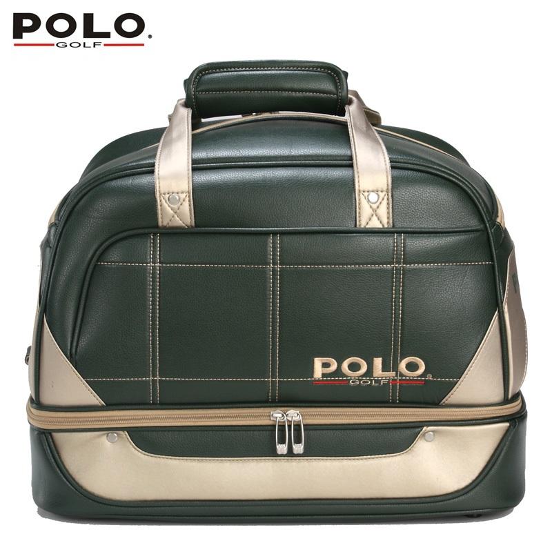 Фотография Brand POLO Golf  double clothing shoes package pu waterproof travel bag women bolsas zapatos men