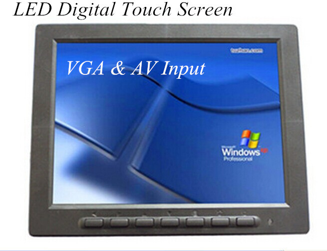 8 Inch LED Touch Screen Digital Display For Computer and CCTV Camera VGA&amp;AV Input Car Monitor <br><br>Aliexpress