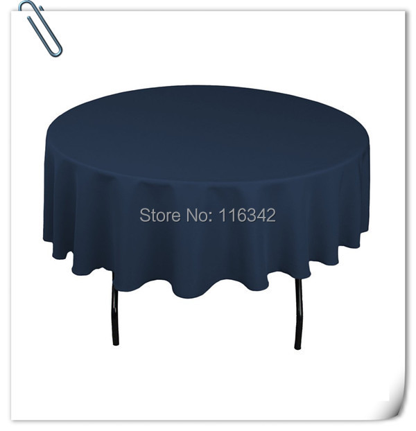 "Retail Wholesale polyester 70"" Round 20pcs Navy Blue Tablecloth Wedding Party Banquet Table Decorations Free Shipping(China (Mainland))"
