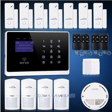 HOMSECUR English, Russian and Italian Voice Android/IOS App Wireless GSM Autodial Home Office Burglar Intruder Alarm System(China (Mainland))