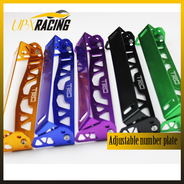 car universal aluminum trd style adjustable rotating number plate auto License plate frame license plate holder(China (Mainland))