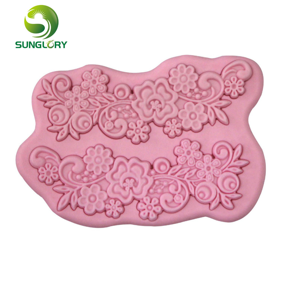 Flower Silicone 3D Mold Dining Bar Non-Stick Cake Decorating Tools Fondant Soap Gum Paste Silikon Decoration - Yiwu Sunglory Trading Co., Ltd store
