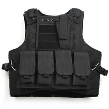 Black Color Military Tactical Vest 800D Oxford Multi Colors Airsoft Paintball Vest US Army Miltary Security Uniform(China (Mainland))