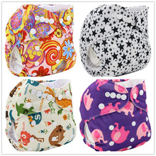 Washable Diapers Couche Lavable 2016 Brand Baby Nappies Animal Pattern Cloth Diaper Bamboo Velour Fitted Reusable Baby Diaper(China (Mainland))