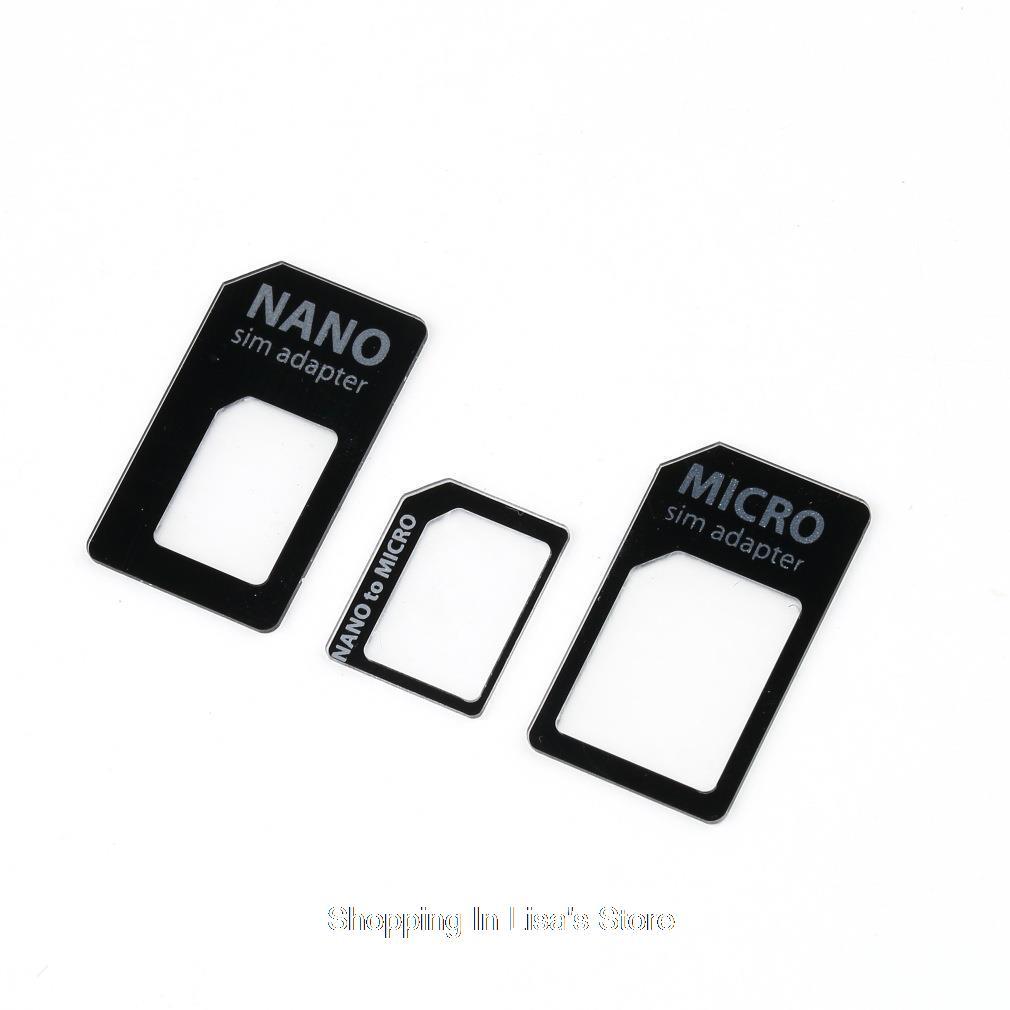 Гаджет  3 in 1 Nano SIM to Micro Standard SIM MICROSIM Adaptor Adapter for iPhone 5 None Телефоны и Телекоммуникации