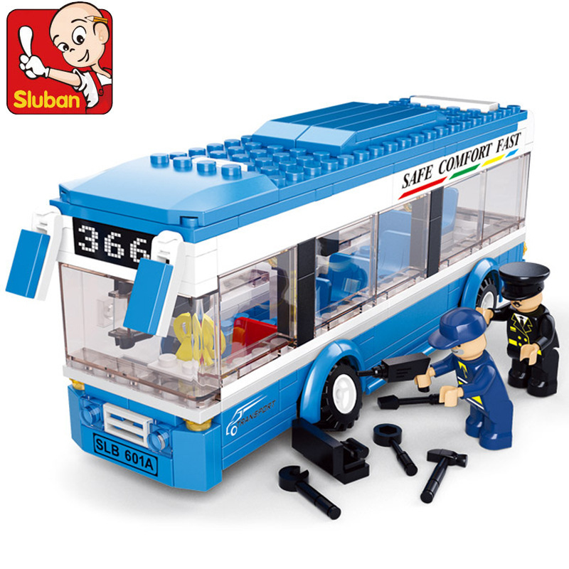 Sluban 0330 city buses compatible with lego assembled monolayer building blocks DIY toys educational toys for children<br><br>Aliexpress