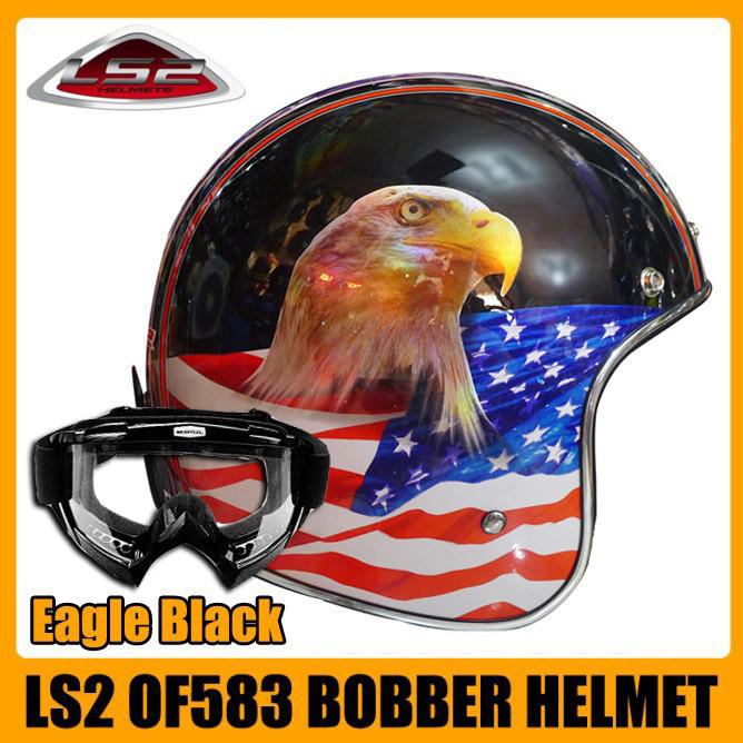 New 2014 flight helmet LS2 OF583 motorcycle Open Face Helmet Scooter helmet  retro helmet