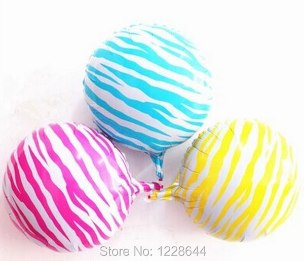 "Zebra print aluminum foil balloon party decoration party favors 18"" good quality helium air gas inflatable 20pcs/lot wholesale(China (Mainland))"