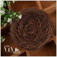 Handmade rattan bird nest accessories jewelry cosmetics photography props