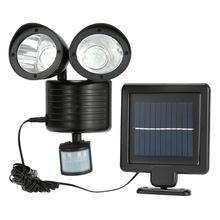 Buy Solar Powered Panel LED Street Light PIR Motion Sensor Lighting Outdoor Waterproof Path Wall Emergency Security Dural Head Lamp for $19.74 in AliExpress store