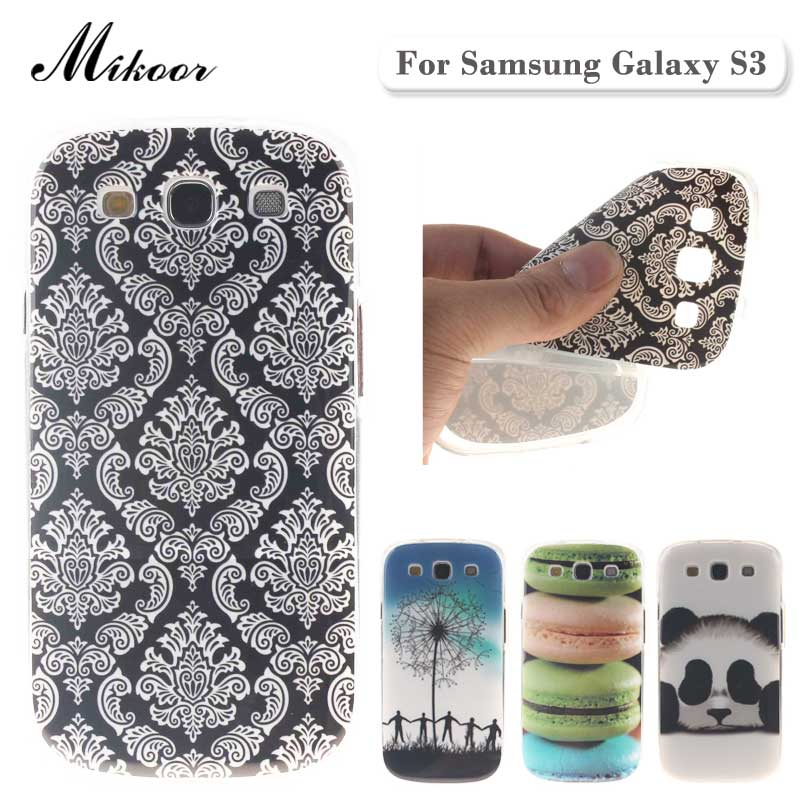 Fashion Painted Pattern TPU Silicone Soft sFor Samsung Galaxy S3 Case For Samsung Galaxy S3 i9300 Phone Case Cover TX001(China (Mainland))
