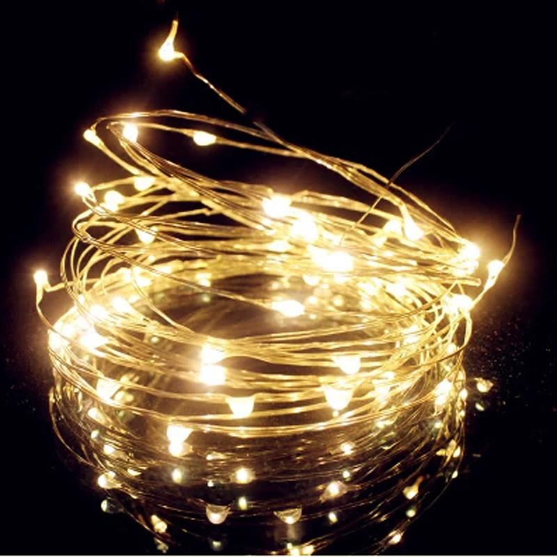 50 Led Lights G35 String Set : Hot ! 33Ft 10M 100 LED 4.5V mini Battery Operated Silver LED String Light Fairy Lights Garlands ...