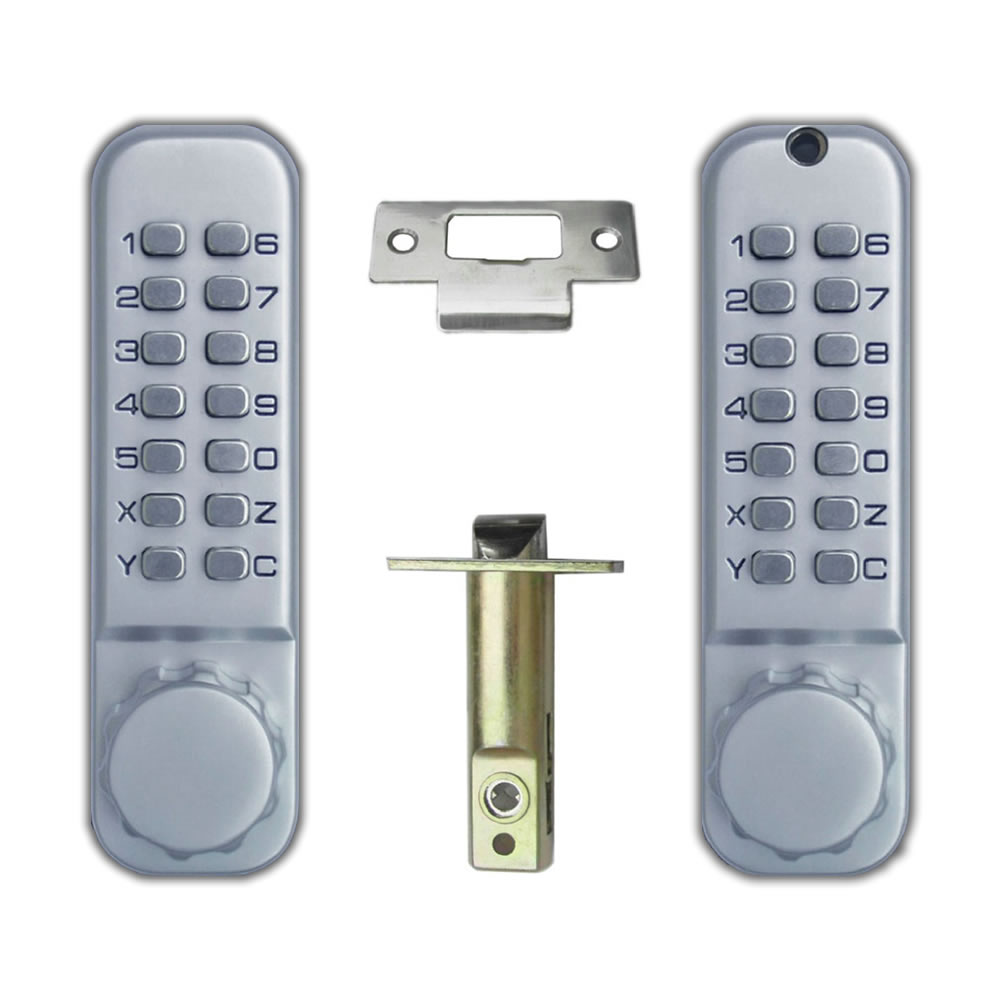 Free-Shipping OSPON 10S The 1th generation of mechanical locks All-Weather Double Keypad Mechanical Keyless Door Lock(China (Mainland))