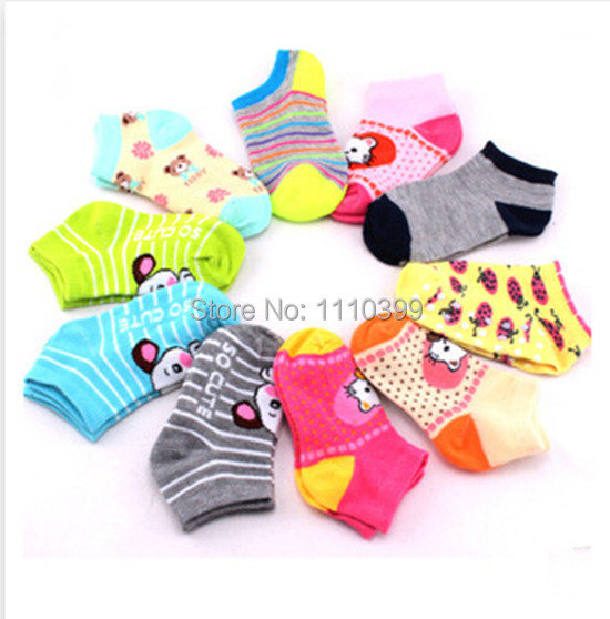 2015 New Baby cartoon children socks color non-slip socks 0-3 years of age free shipping Color random(China (Mainland))