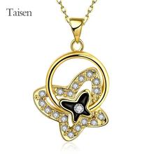 watches women dress flower necklace Wholesale18K Real Gold Plated Necklace pendants New Fashion Jewelry hot sale 45+5cm chain(China (Mainland))