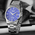 Fashion Single Calendar Men Watch Luxury Classical Stainless Steel Wristwatch Casual Dress Quartz Watch relogio masculino