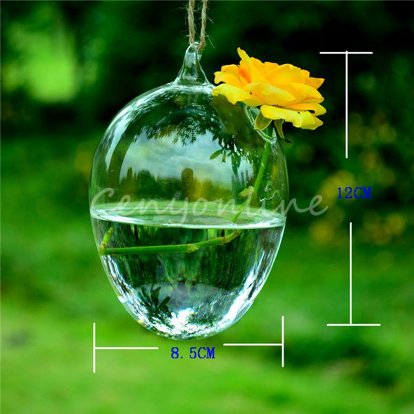 The Best Price Transparent Hanging Glass Heart Bell Star Plants Flower Vase Hydroponic Container Wedding Gift Home Decoration(China (Mainland))