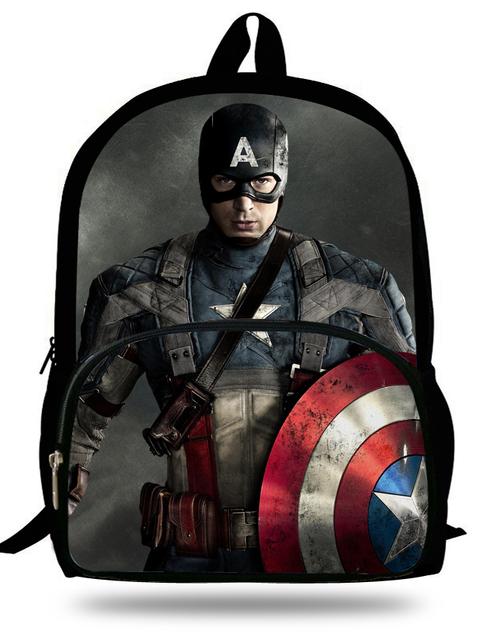 Прохладный Капитан Америка Мстители 16-дюймовый Mochila Мешок Школы Рюкзак Для Подростков ...