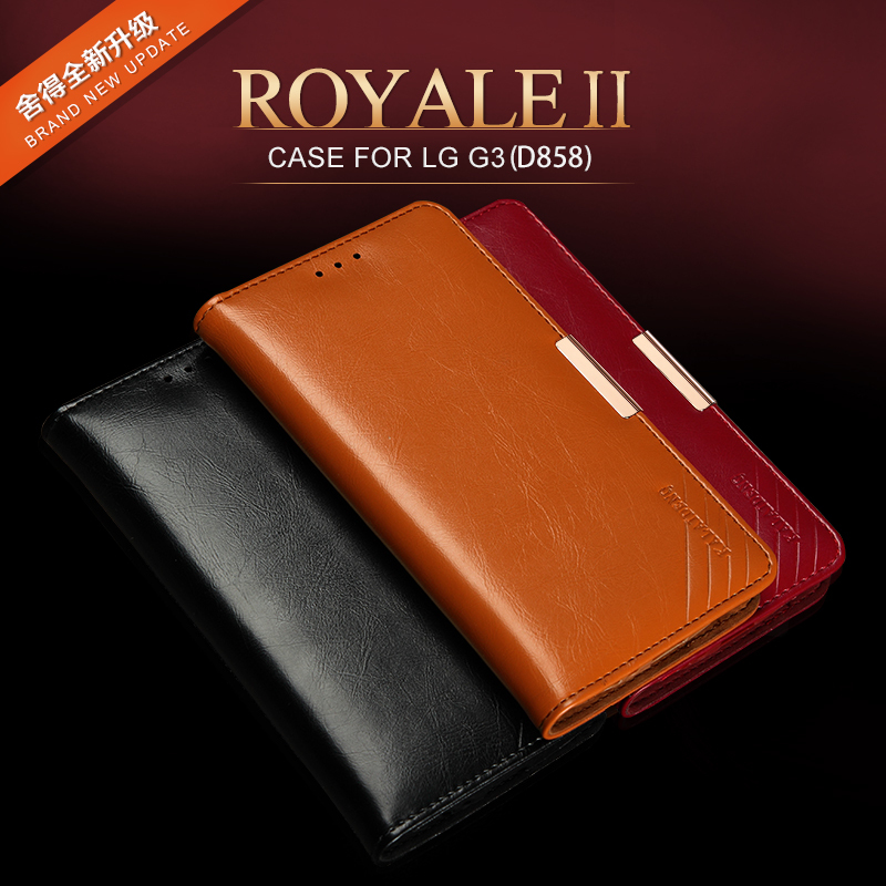 KLD Luxury Genuine Leather Flip case capa for LG G3 Wallet Stand phone bag TPU Back cover Free Shipping cell phone accessories(China (Mainland))