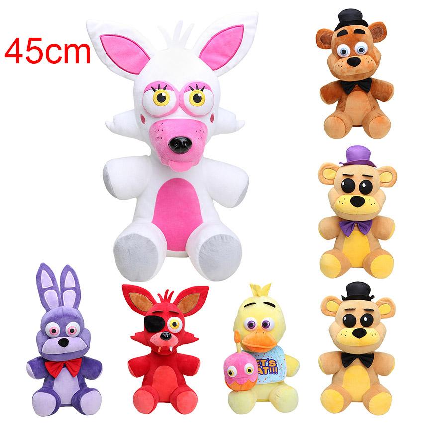 18'' 45CM big size FNAF five night at freddy's plush toys Freddy Fazbear Mangle Foxy bonnie chica plush & stuffed kids Doll toy(China (Mainland))