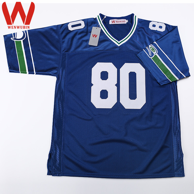 WENWUBIN Mens #80 Steve Largent Embroidered Throwback Football Jersey(China (Mainland))