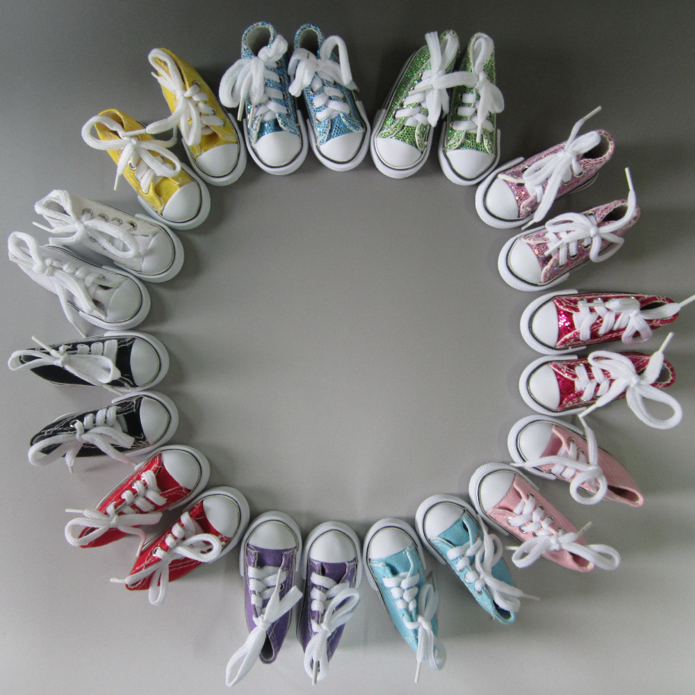 Doll Accessories Assorted Colors 7.5cm Canvas Shoes 1/4 BJD Doll & Mini Doll Shoes &16 Inch Sharon doll Boots