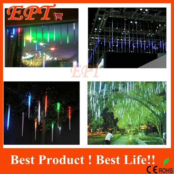 New 50cm Meteor Shower Rain Tubes Christmas Decorative String Light Led Lamp 100-240V EU US Plug Holiday Light FREE SHIPPING(China (Mainland))