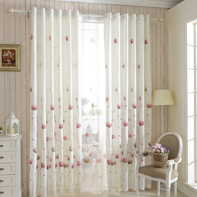 Organza Curtains Cortinas Cocina Window Curtain For Bedroom Curtains Summer S