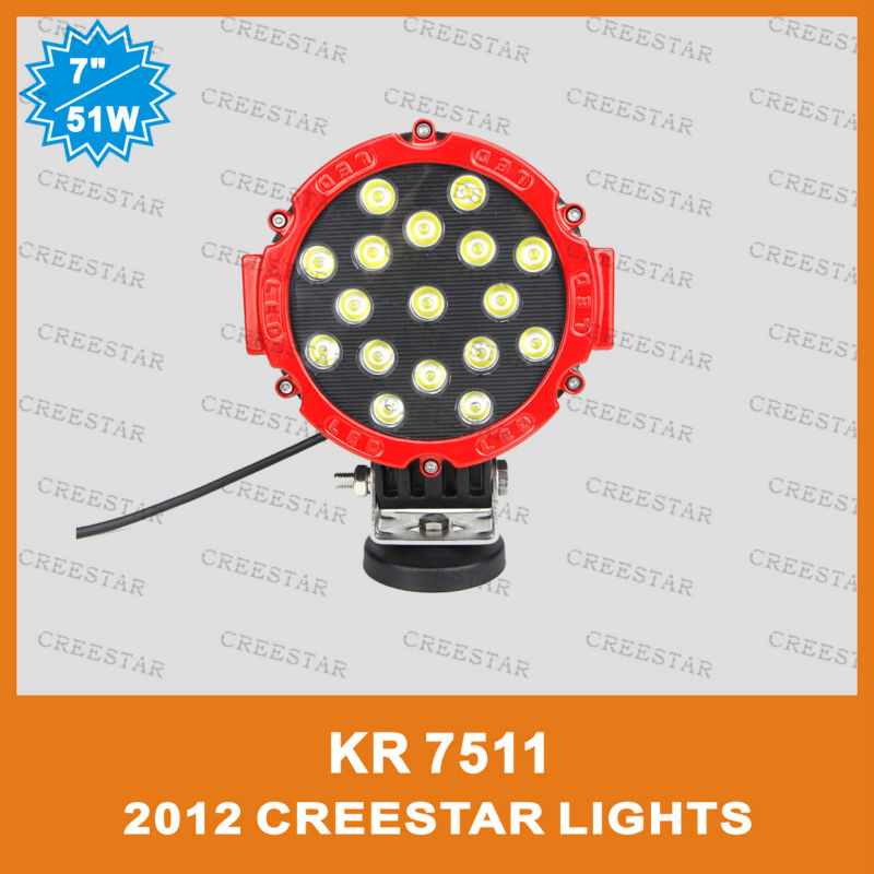 "24V led truck lights 7"" 51W LED HEADLAMP FOR ISUZU TOYOTA HONDA KR7511(China (Mainland))"