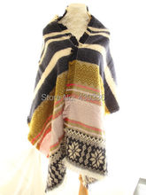 Blanket Oversized Tartan Fringed Scarf Wrap Shawl Plaid Cozy Checked Pashmina
